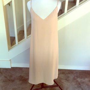 Aritzia Babaton nude/blush slip dress